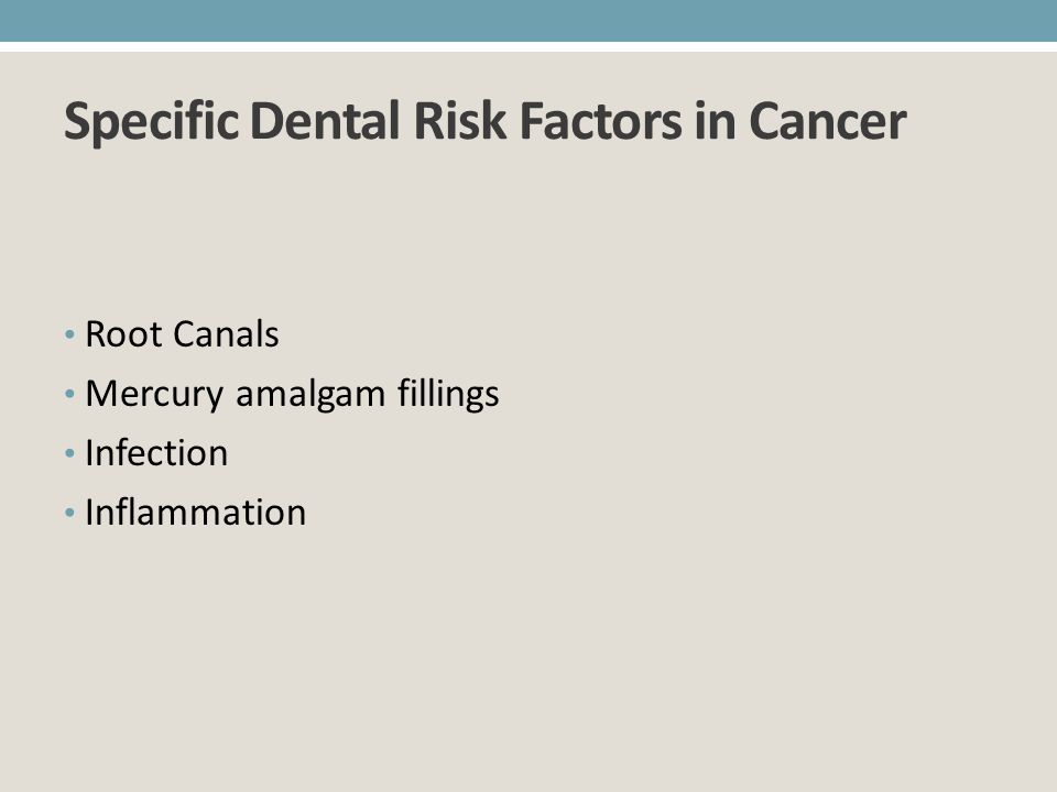 Specific Dental Risk Factors in Cancer