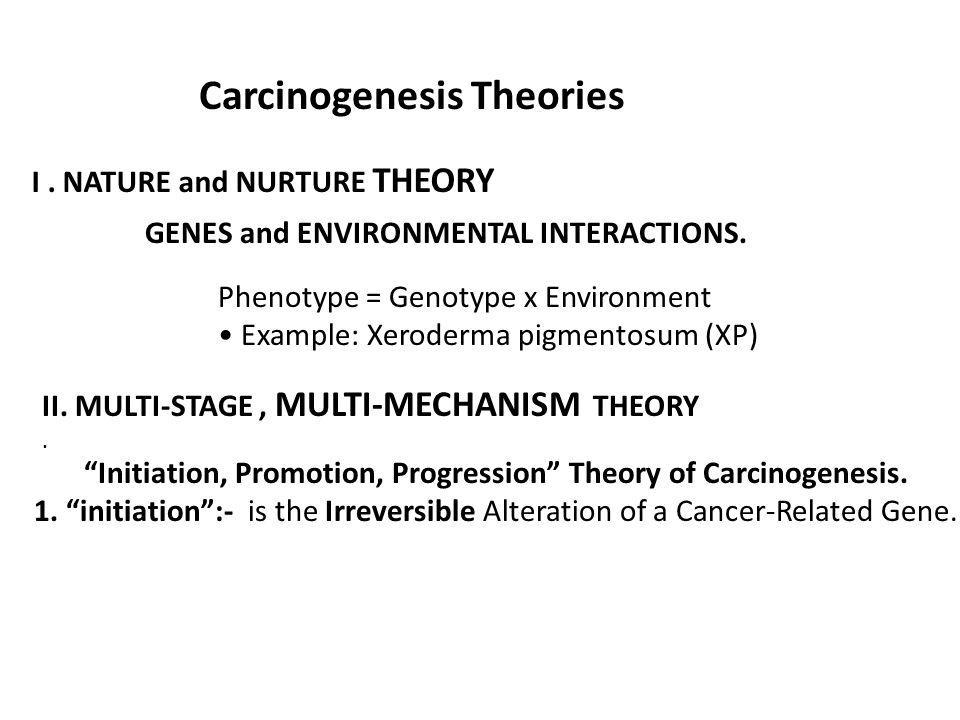 Carcinogenesis Theories