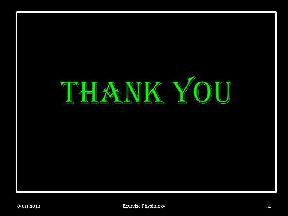 THANK YOU 09.11.2012 Exercise Physiology