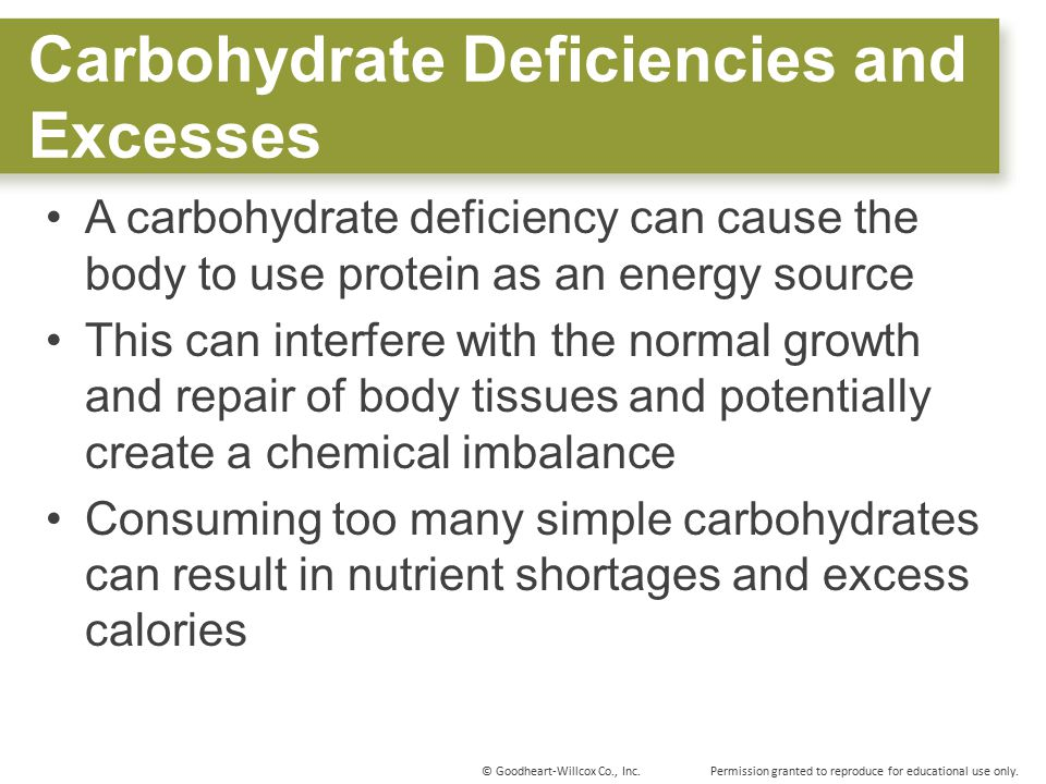 Carbohydrate Deficiencies and Excesses