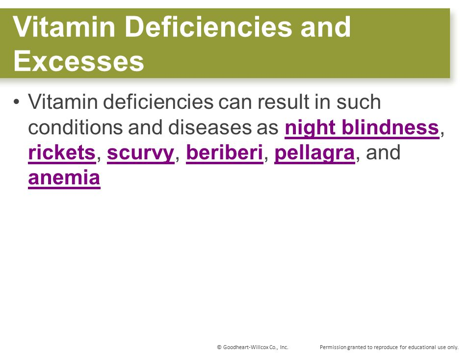 Vitamin Deficiencies and Excesses