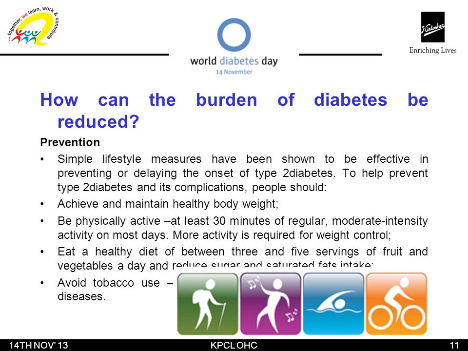 How can the burden of diabetes be reduced