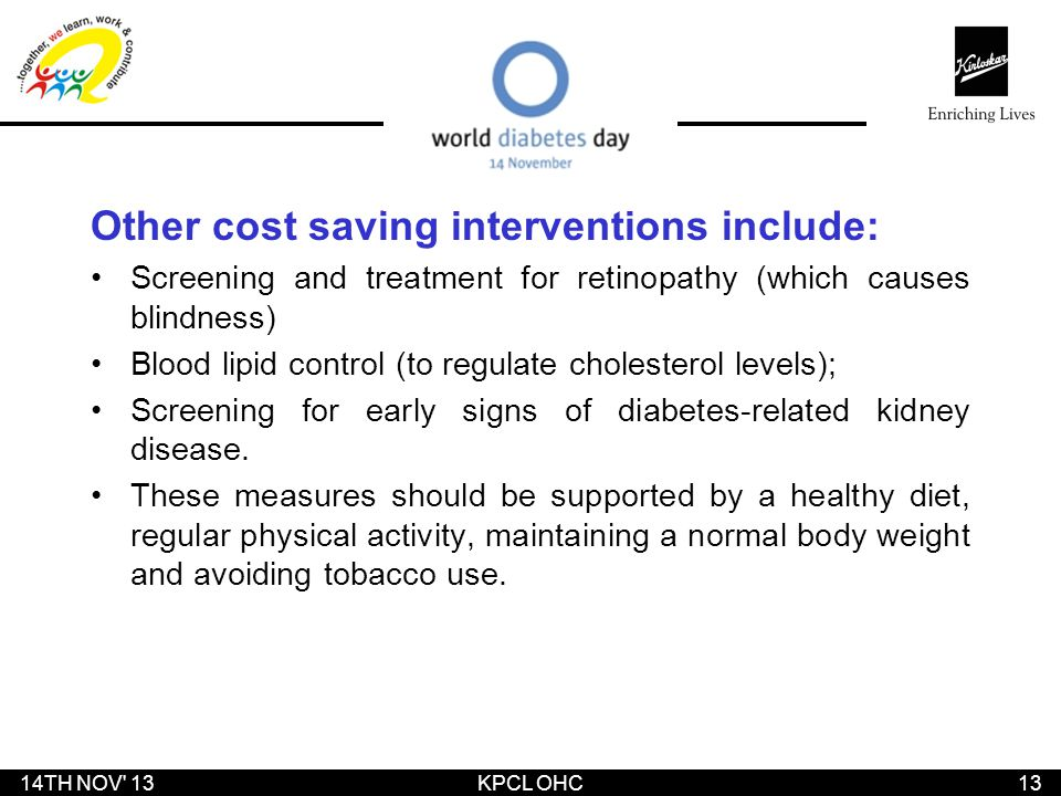 Other cost saving interventions include: