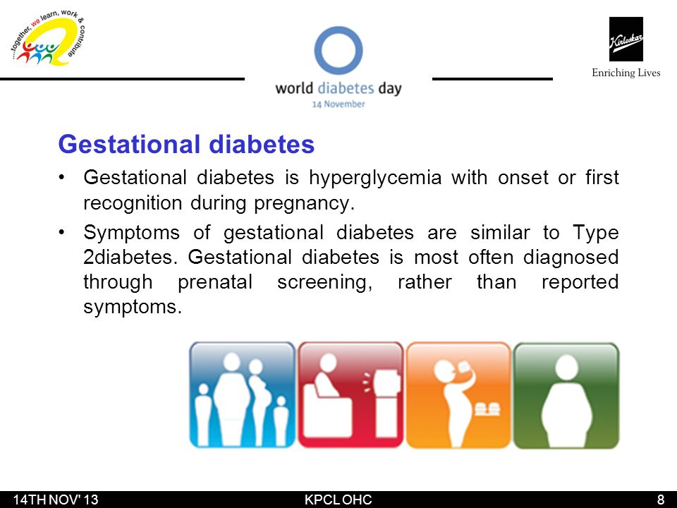 Gestational diabetes Gestational diabetes is hyperglycemia with onset or first recognition during pregnancy.