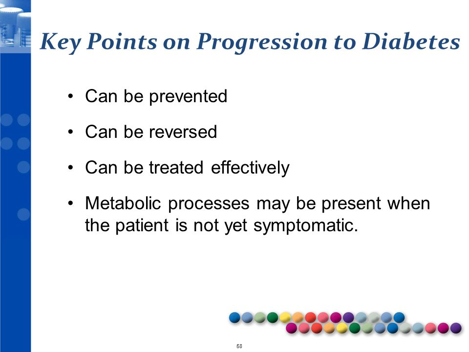 Key Points on Progression to Diabetes
