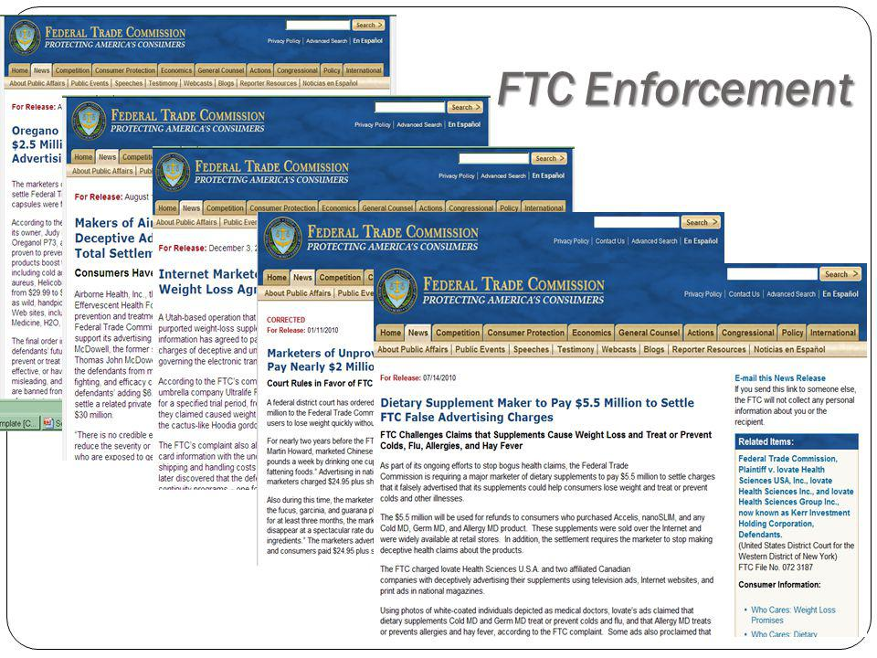 FTC Enforcement