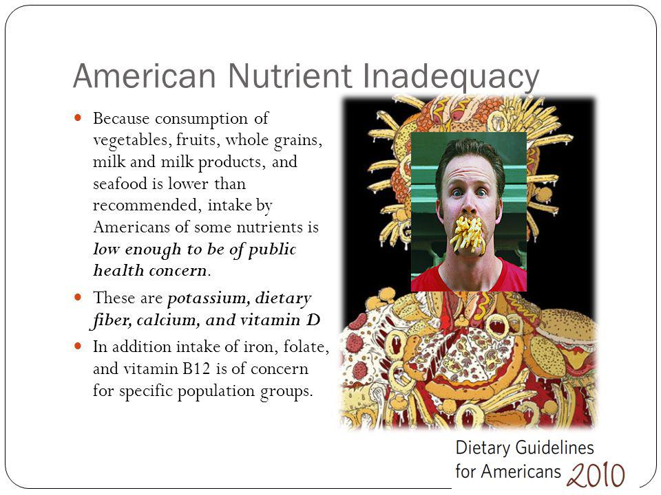 American Nutrient Inadequacy