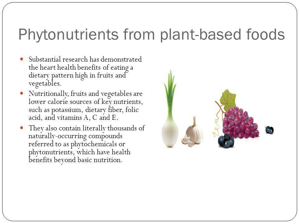 Phytonutrients from plant-based foods