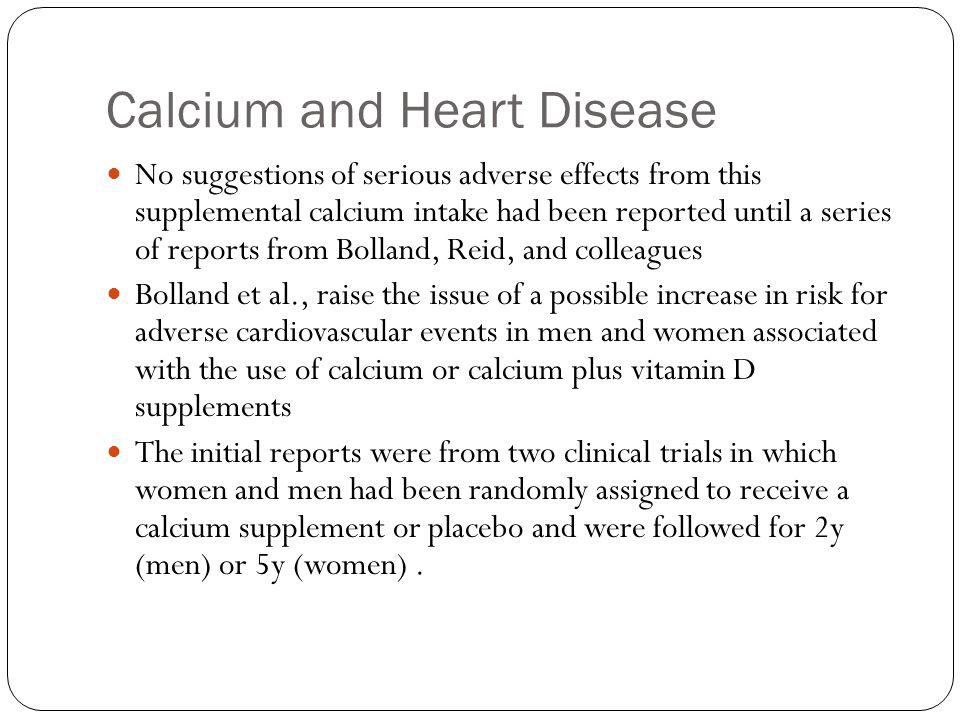 Calcium and Heart Disease