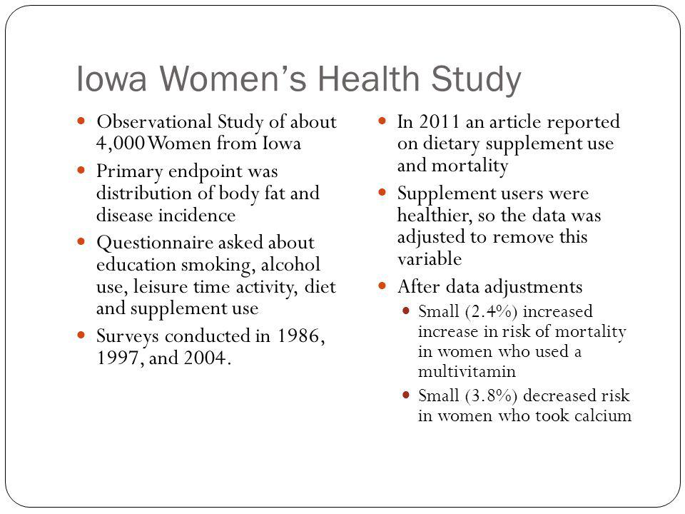 Iowa Women's Health Study