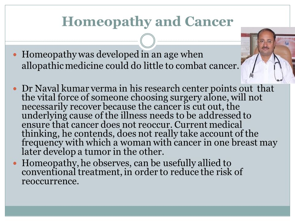 Homeopathy for breast cancer