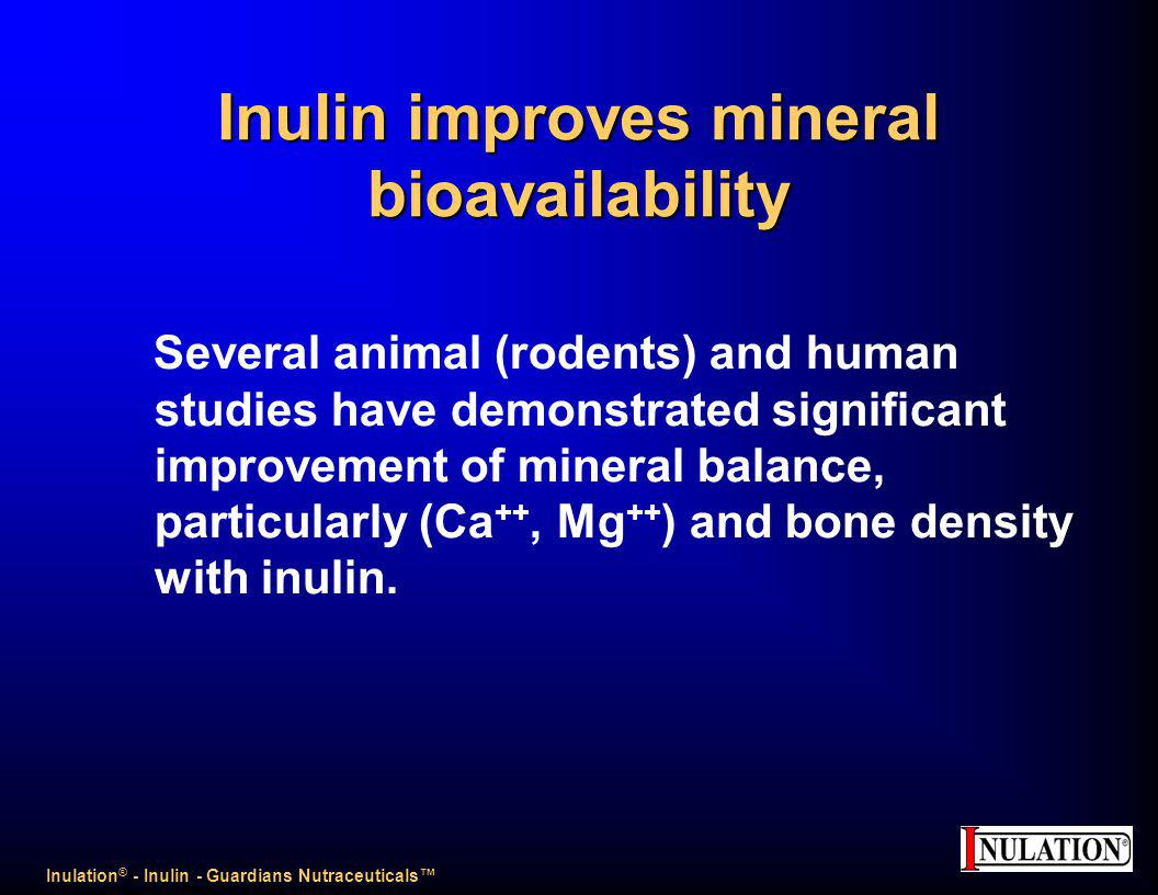 Inulin improves mineral bioavailability