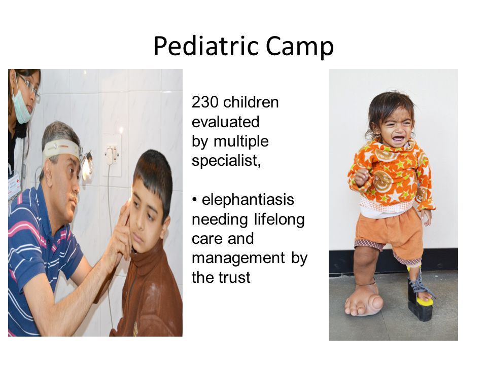 Pediatric Camp 230 children evaluated by multiple specialist,