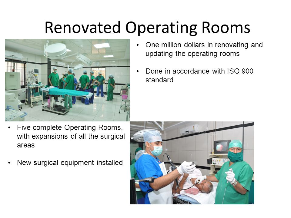 Renovated Operating Rooms