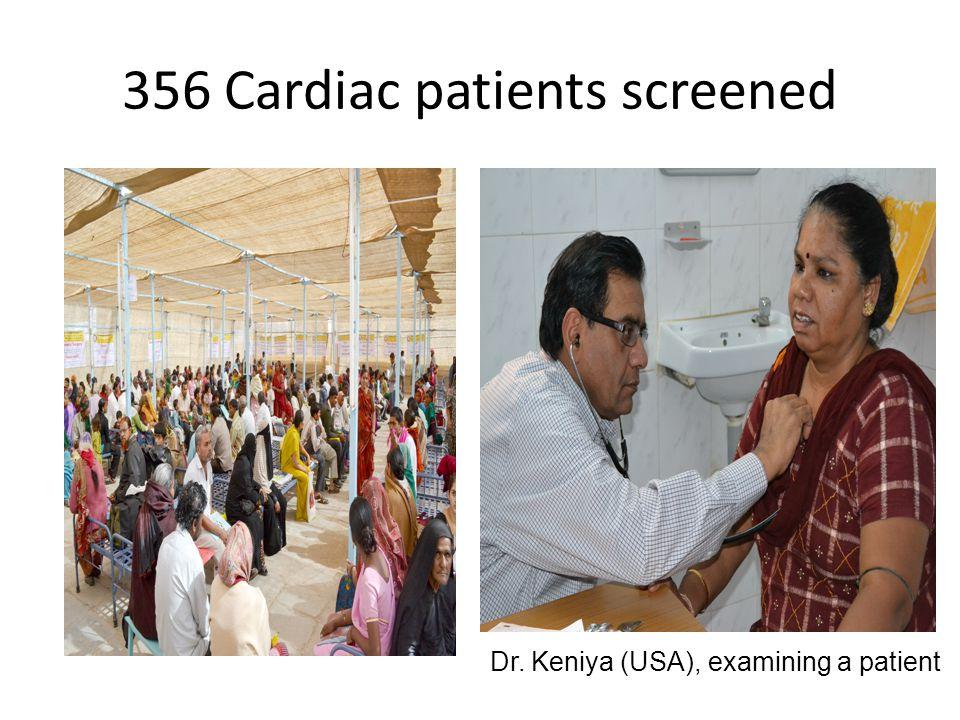 356 Cardiac patients screened