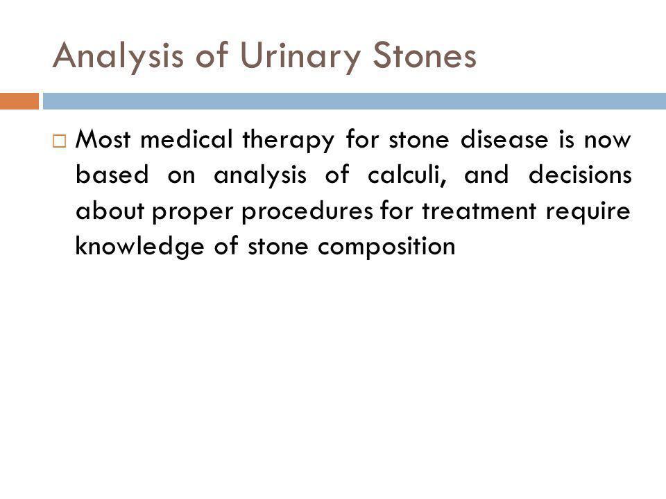 Analysis of Urinary Stones