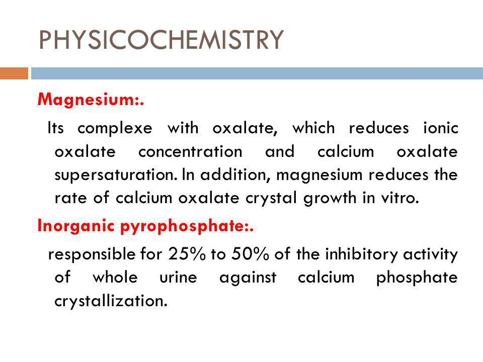 PHYSICOCHEMISTRY