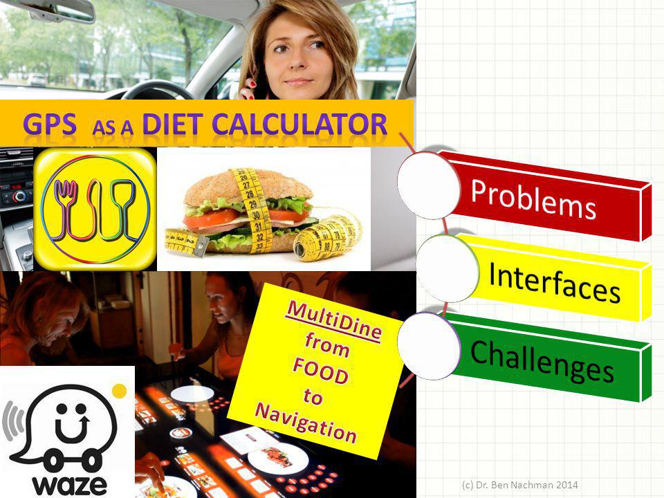 GPS as a diet calculator