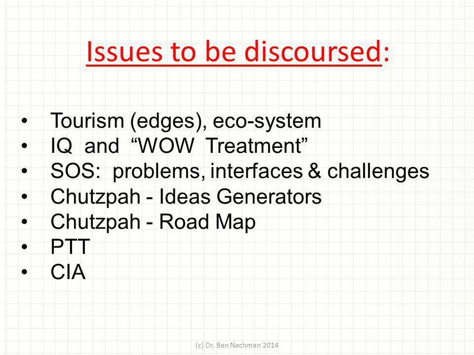 Issues to be discoursed: