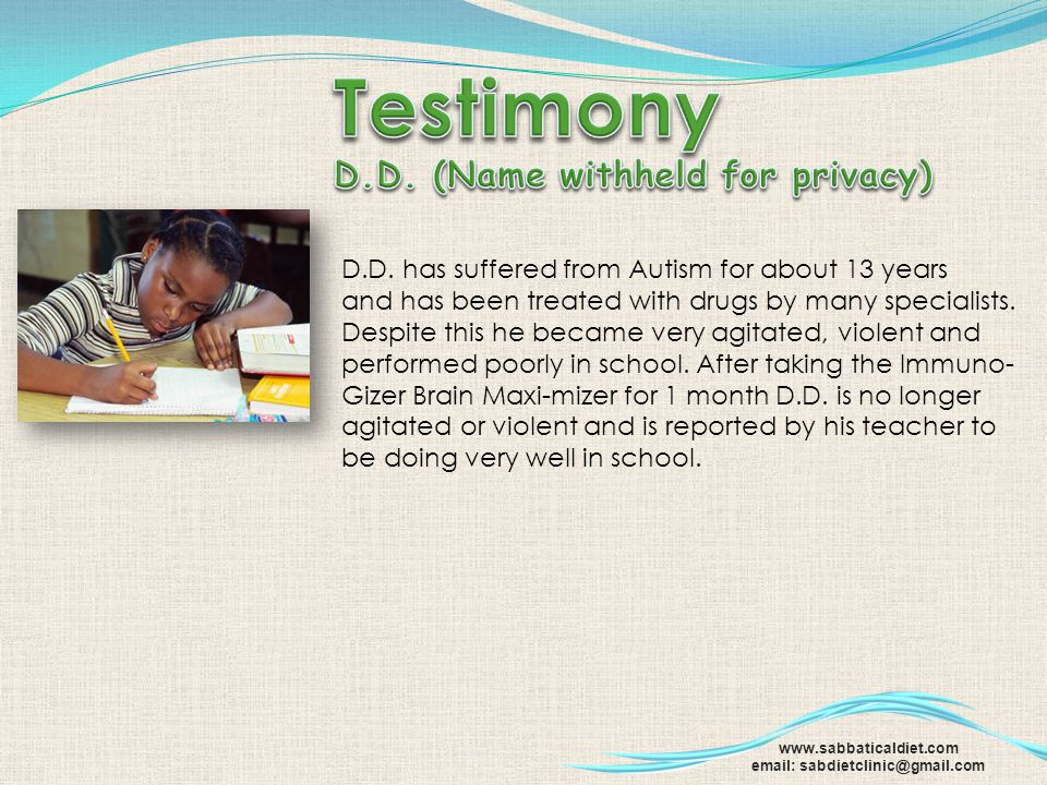 Testimony D.D. (Name withheld for privacy)