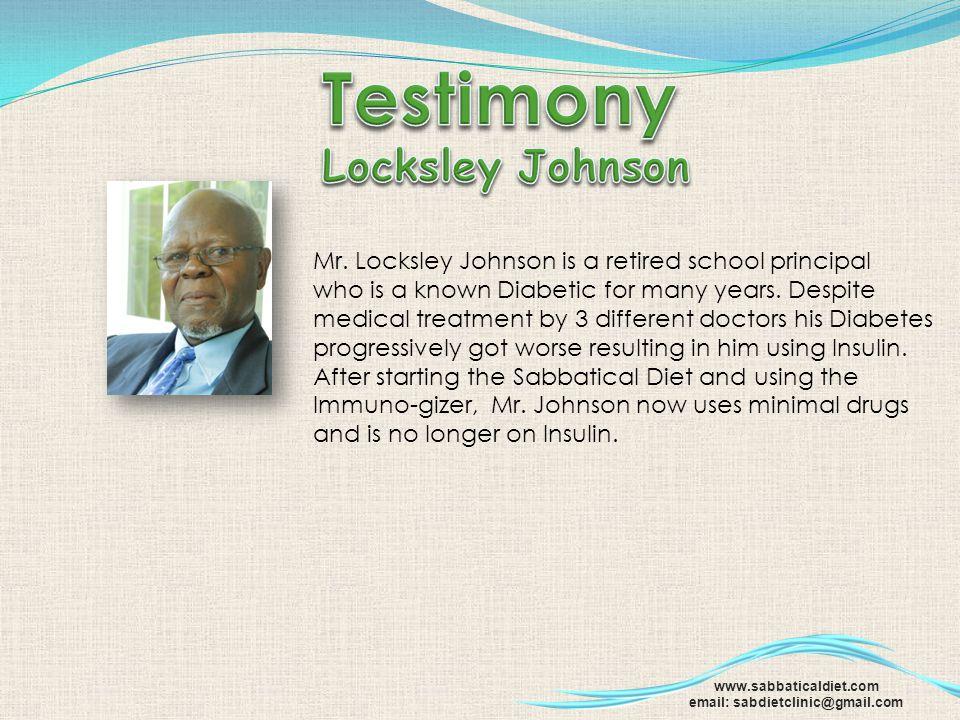 Testimony Locksley Johnson