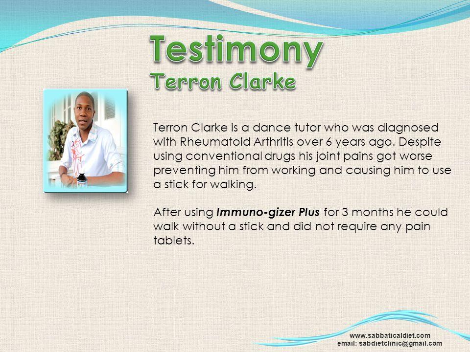 Testimony Terron Clarke