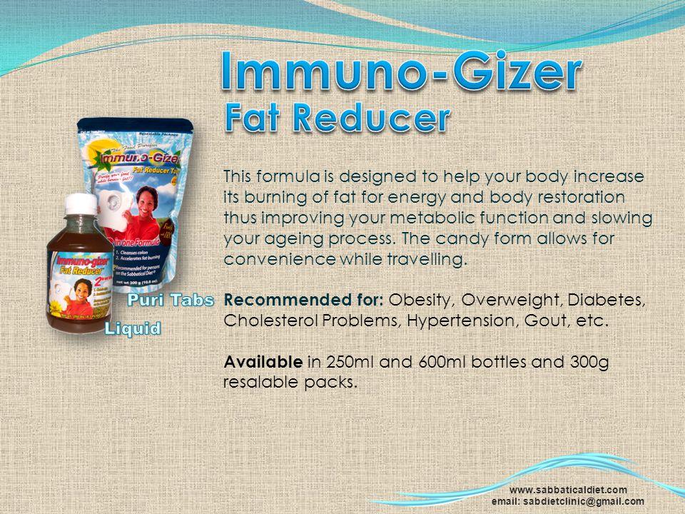 Immuno-Gizer Fat Reducer