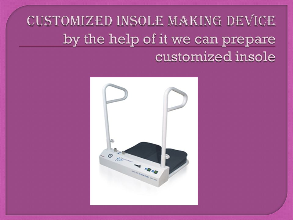 Customized insole MAKing Device by the help of it we can prepare customized insole