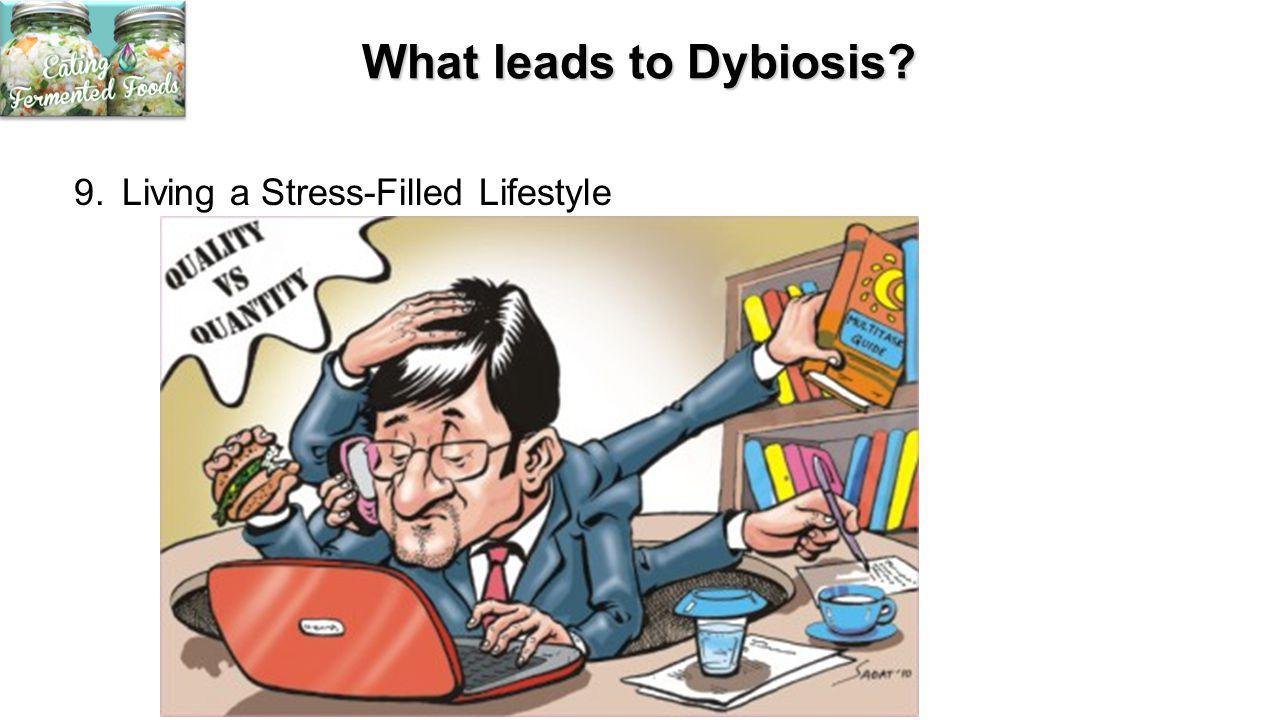 What leads to Dybiosis 9. Living a Stress-Filled Lifestyle
