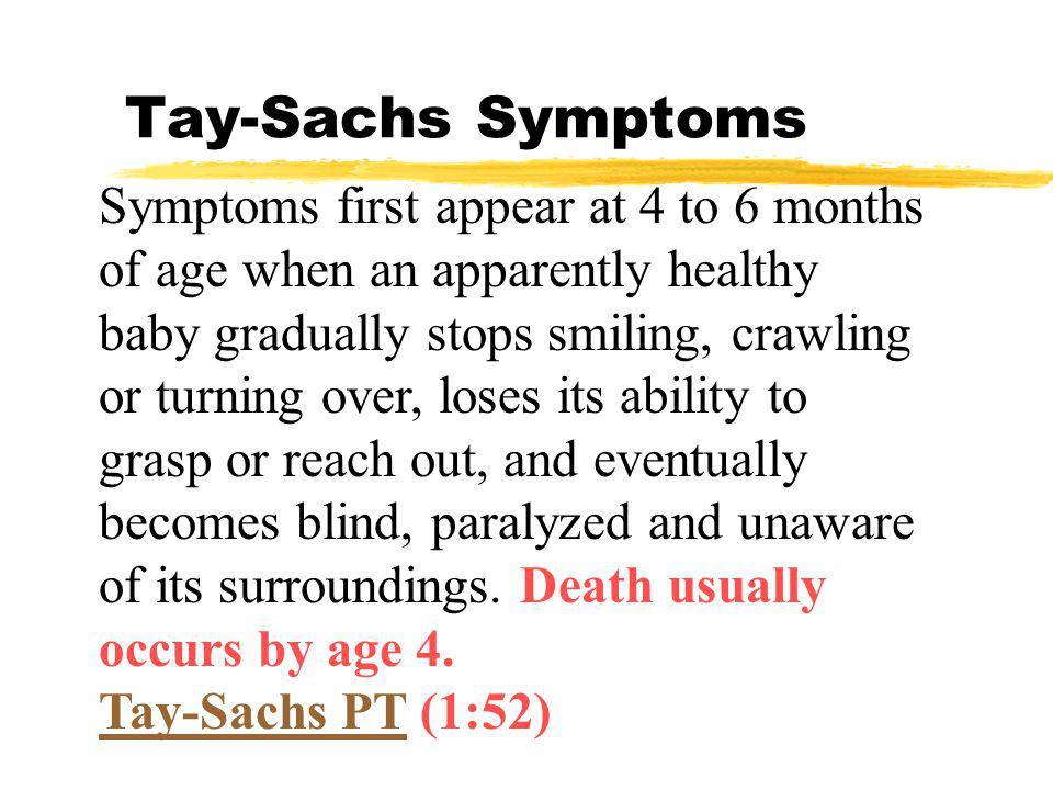Tay-Sachs Symptoms