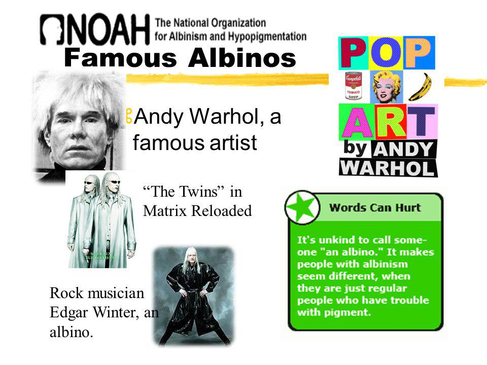 Famous Albinos Andy Warhol, a famous artist