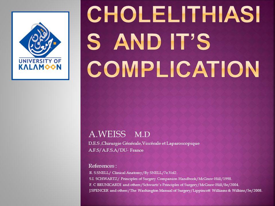 Cholelithiasis and it's Complication