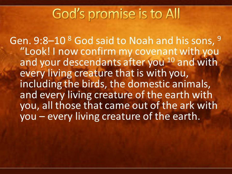 God's promise is to All