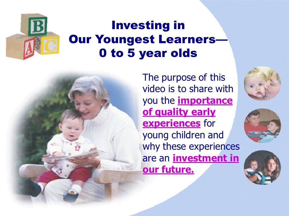 Investing in Our Youngest Learners—