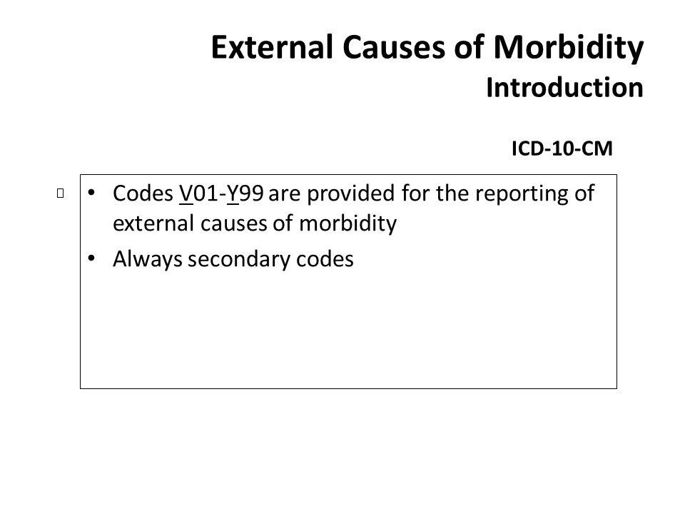External Causes of Morbidity Introduction