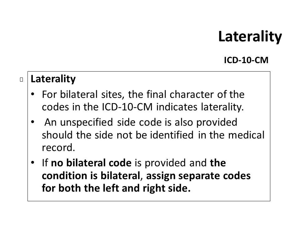 Laterality Laterality