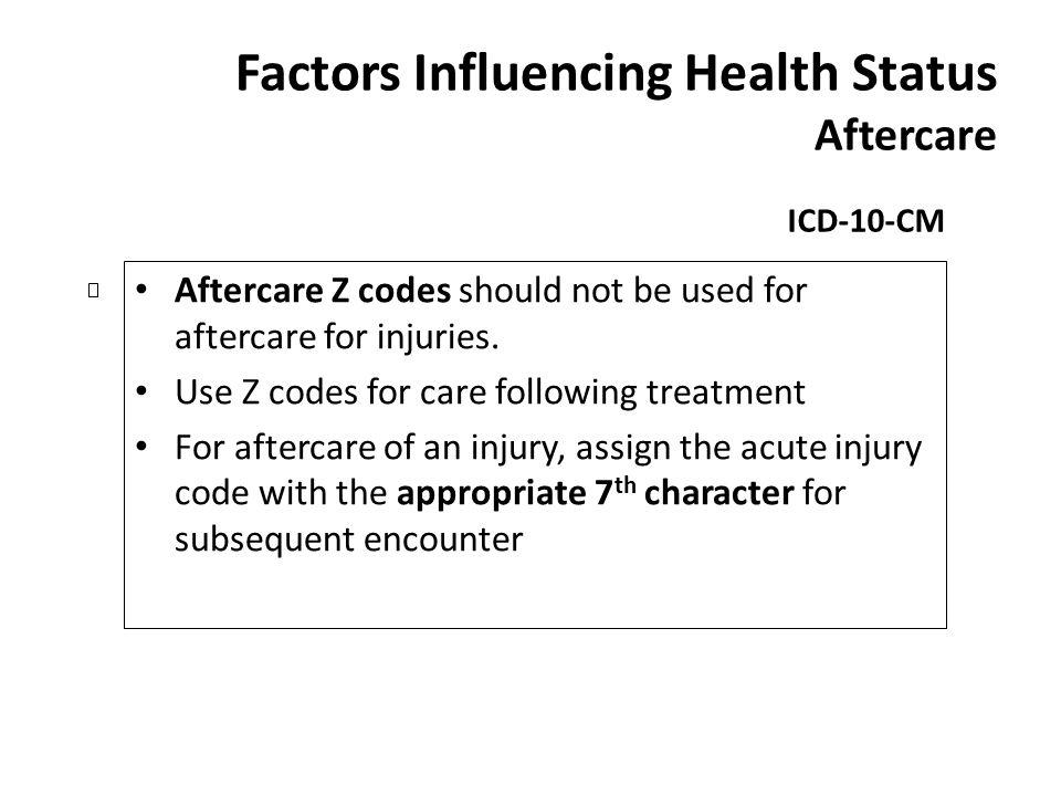 Factors Influencing Health Status Aftercare