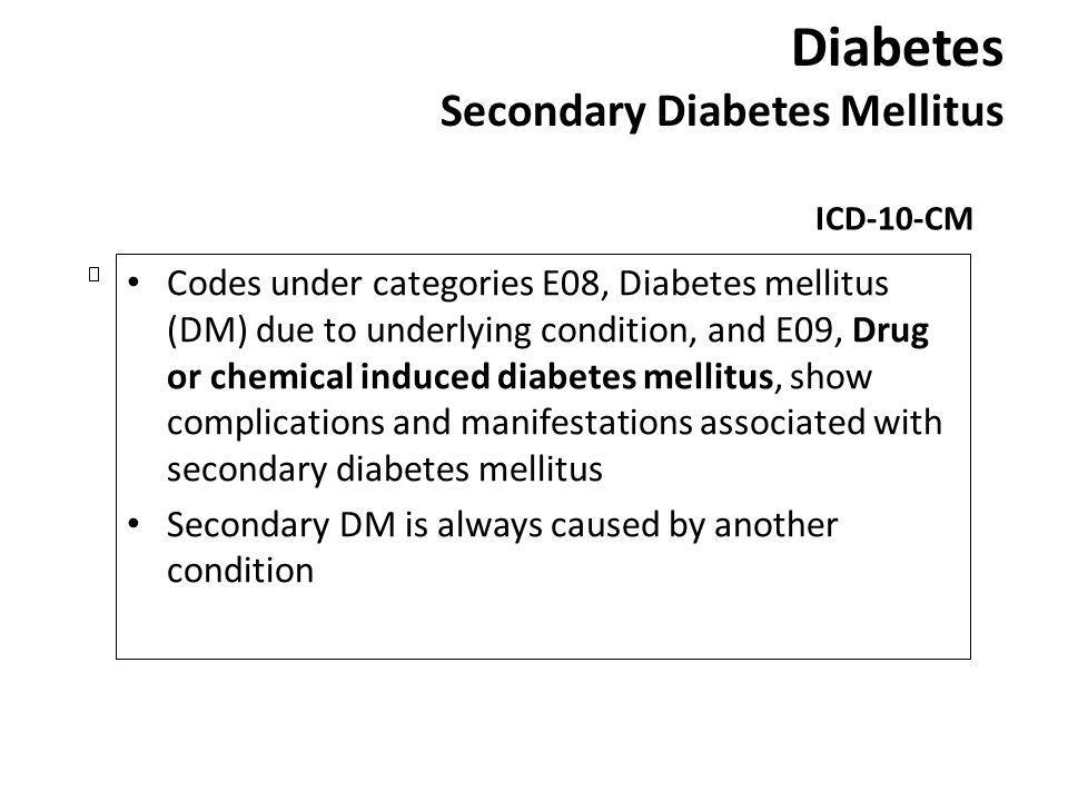 Diabetes Secondary Diabetes Mellitus