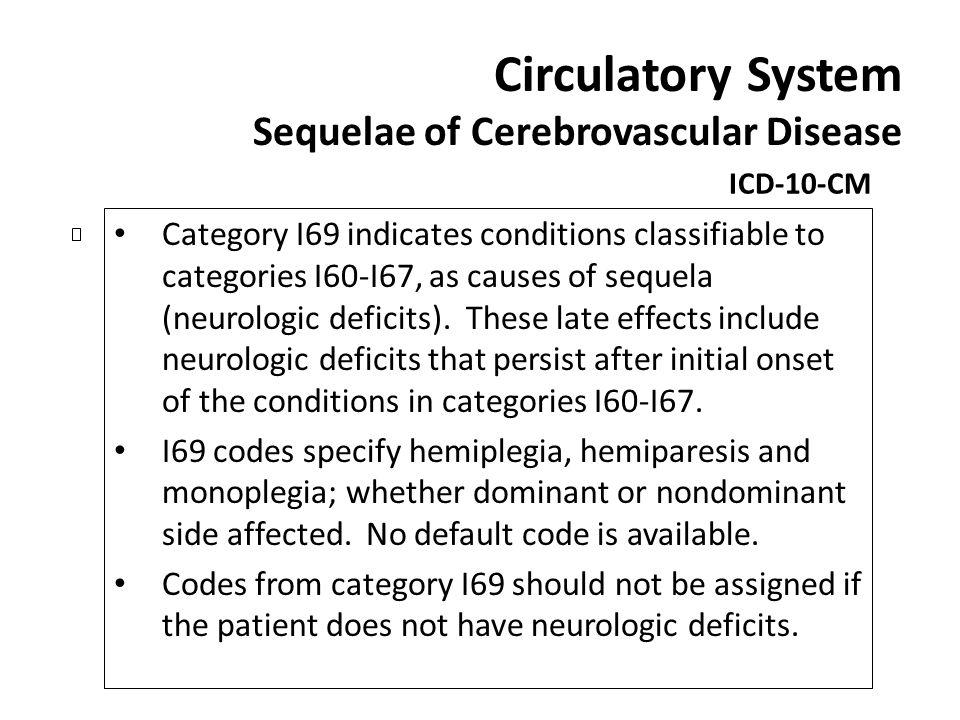 Circulatory System Sequelae of Cerebrovascular Disease