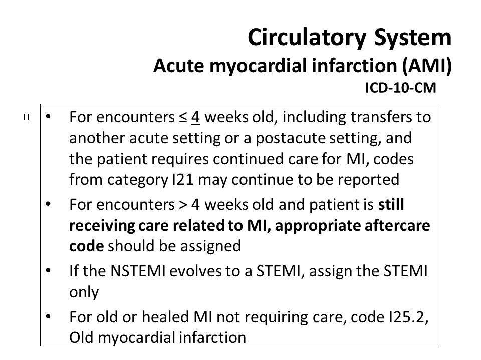 Circulatory System Acute myocardial infarction (AMI)