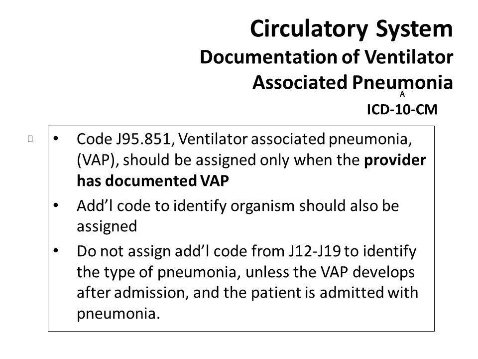 Circulatory System Documentation of Ventilator Associated Pneumonia