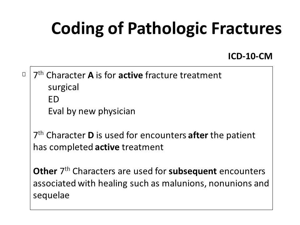 Coding of Pathologic Fractures
