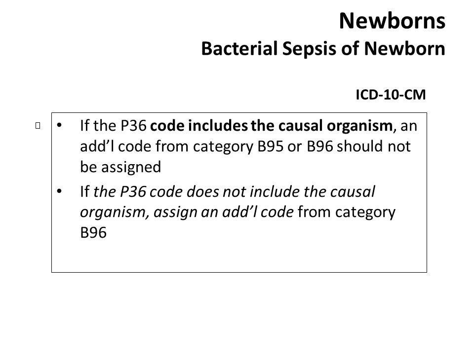Newborns Bacterial Sepsis of Newborn