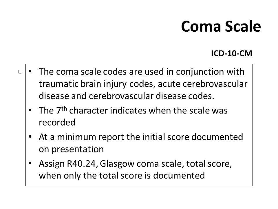 Coma Scale ICD-10-CM.