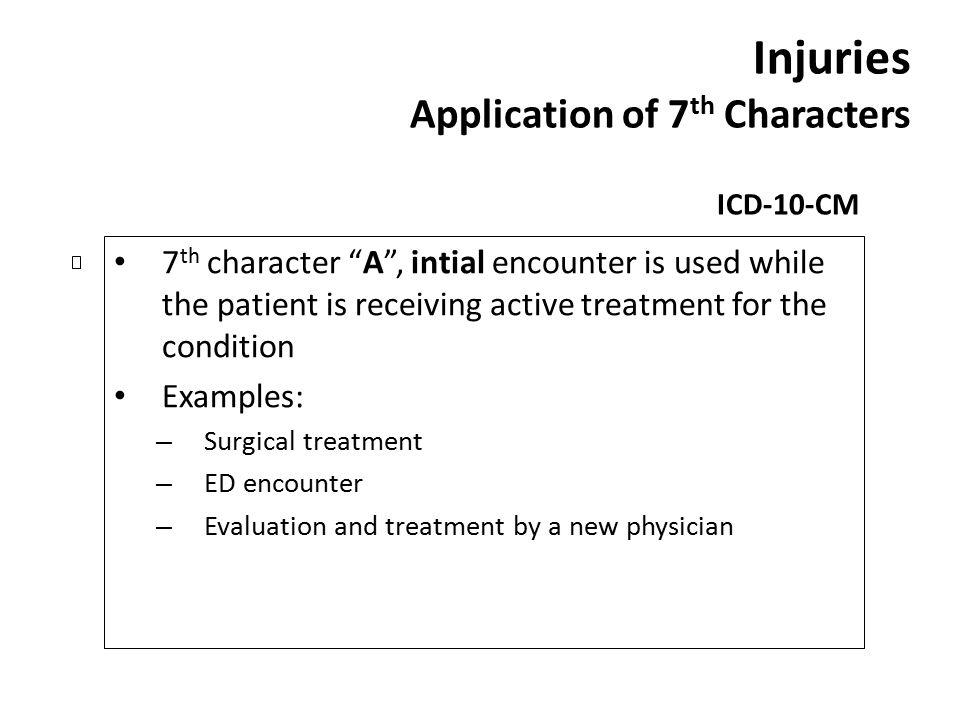 Injuries Application of 7th Characters