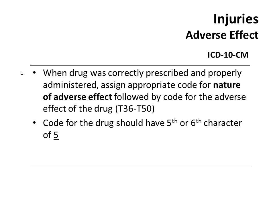 Injuries Adverse Effect