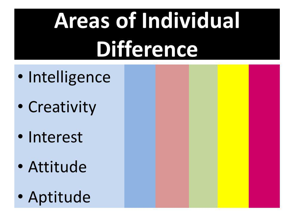 Areas of Individual Difference