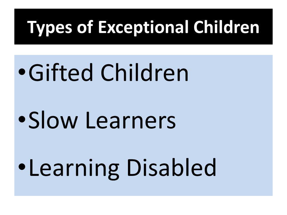 Types of Exceptional Children