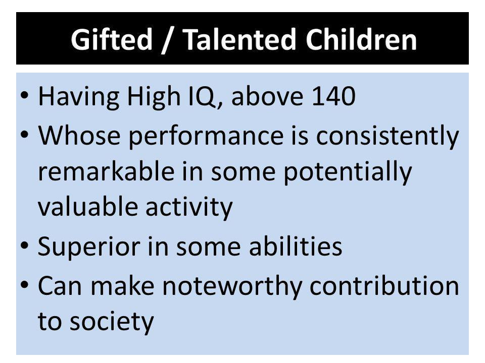 Gifted / Talented Children