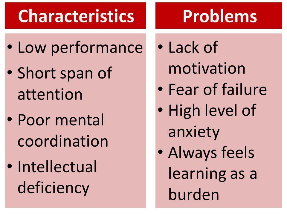 Characteristics Problems